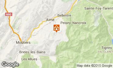 Mapa La Plagne Chalet 56090