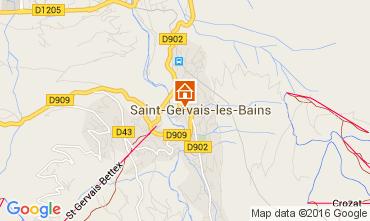 Mapa Saint Gervais Mont-Blanc Apartamento 49876