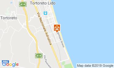 Mapa Tortoreto Apartamento 96795