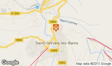 Mapa Saint Gervais Mont-Blanc Apartamento 2626