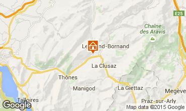 Mapa La Clusaz Chalet 92319