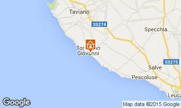 Mapa Ugento - Torre San Giovanni Apartamento 97977