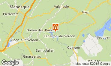 Mapa Gr�oux Les Bains Alojamiento ins�lito 77013