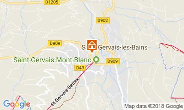 Mapa Saint Gervais Mont-Blanc Apartamento 112358