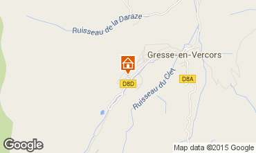 Mapa Gresse en Vercors Casa rural 66151