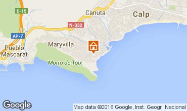 Mapa Calpe Villa 75907