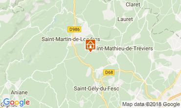 Mapa Saint-Gély-du-Fesc Casa 114910