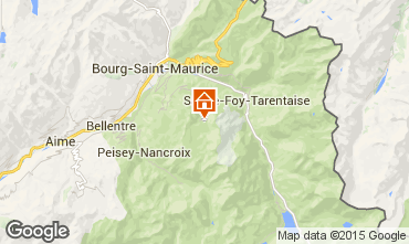 Mapa Les Arcs Apartamento 80074