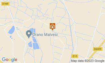 Mapa Narbonne Casa rural 94627