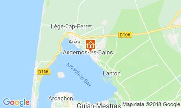 Mapa Andernos les Bains Casa rural 116644