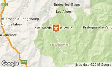 Mapa Saint Martin de Belleville Chalet 2665