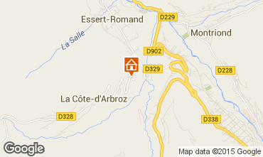 Mapa Morzine Chalet 80713