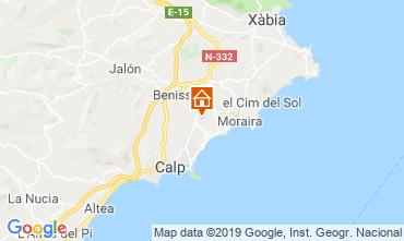 Mapa Benissa Villa 53480