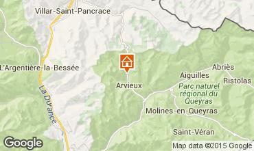 Mapa Arvieux en Queyras Apartamento 90143