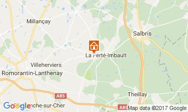 Mapa Romorantin Lanthenay Casa rural 109487