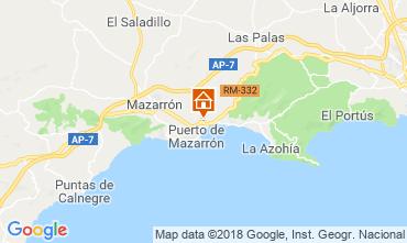 Mapa Puerto de Mazarrón Bungalow 117322