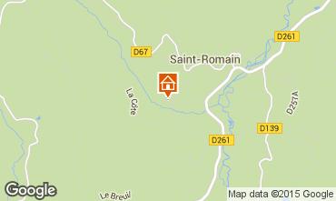 Mapa Saint-Anthème Casa rural 85778