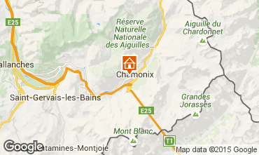 Mapa Chamonix Mont-Blanc Apartamento 14771