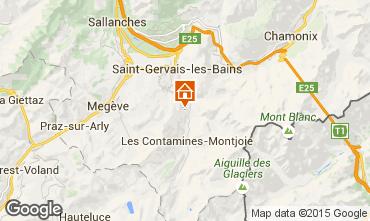 Mapa Saint Gervais Mont-Blanc Apartamento 2560