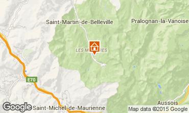 Mapa Les Menuires Estudio 92355