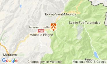 Mapa Montchavin les Coches Apartamento 95029