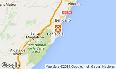 Mapa Peñíscola Apartamento 92382