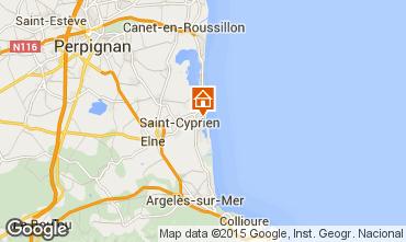 Mapa Saint Cyprien Plage Apartamento 56695