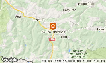 Mapa Ax Les Thermes Apartamento 64599
