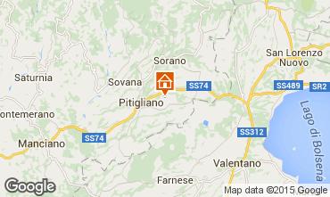 Mapa Pitigliano Casa rural 82600