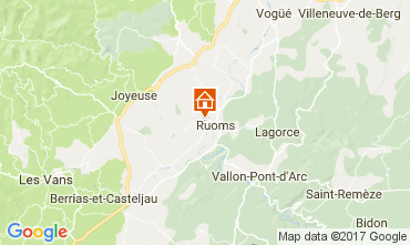 Mapa Vallon-Pont-D'Arc Casa rural 112484