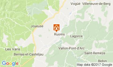 Mapa Vallon-Pont-D'Arc Casa rural 112484