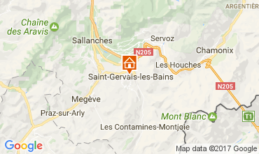 Mapa Saint-Gervais-les-Bains Apartamento 108922