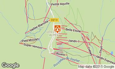 Mapa Les 2 Alpes Apartamento 59362