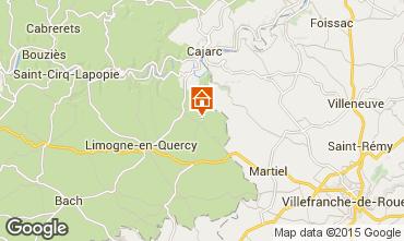 Mapa Saint-Cirq-Lapopie Casa rural 93953