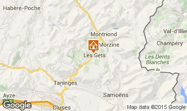 Mapa Les Gets Chalet 1353