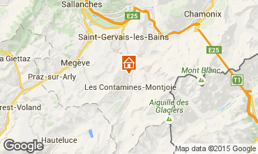 Mapa Les Contamines Montjoie Apartamento 965