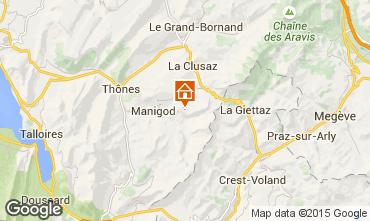 Mapa Manigod-Croix Fry/L'étale-Merdassier Estudio 77964