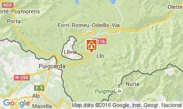 Mapa Font Romeu Chalet 105030