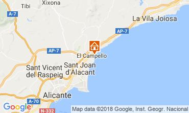 Mapa El Campello Apartamento 113561