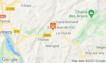 Mapa La Clusaz Apartamento 72766