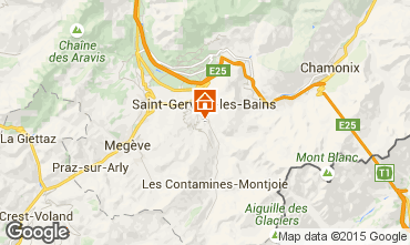 Mapa Saint-Gervais-les-Bains Apartamento 2576