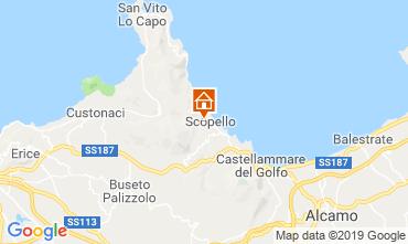 Mapa Scopello Villa 80627