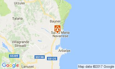 Mapa Santa Maria Navarrese Villa 110022