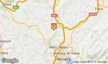 Mapa Annecy Casa rural 58013