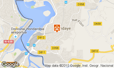 Mapa Hendaya Apartamento 82155