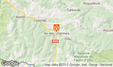 Mapa Ax Les Thermes Apartamento 95670
