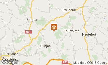 Mapa Hautefort Casa rural 98307