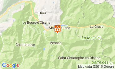 Mapa Les 2 Alpes Apartamento 106447