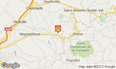 Mapa Montauban Casa rural 12158