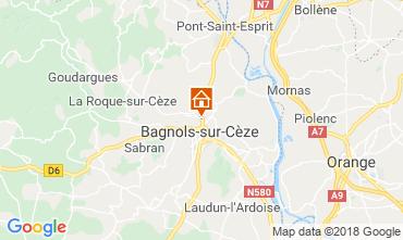 Mapa Bagnols sur Cèze Casa rural 116366